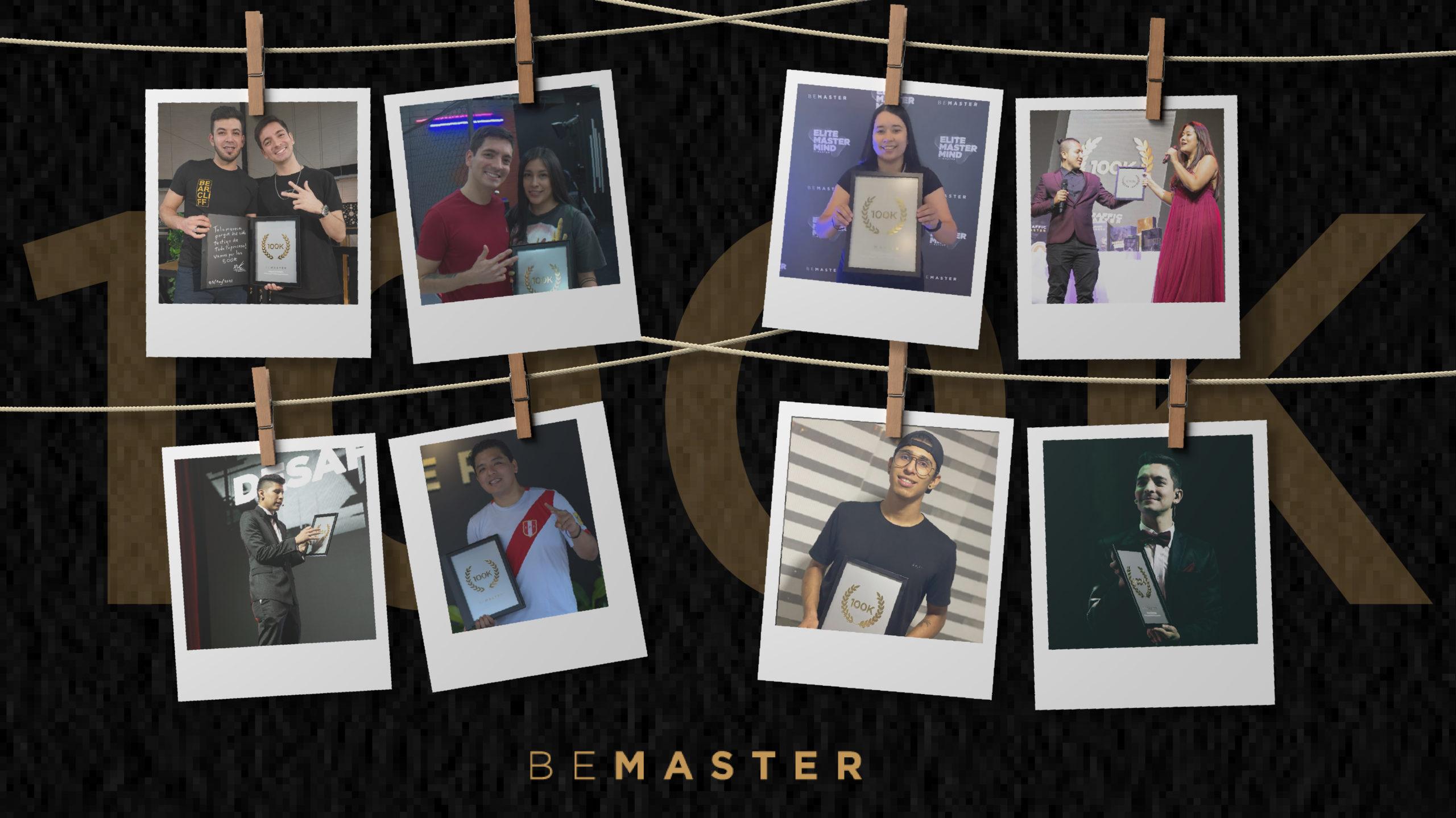 Estudiantes de Bemaster que han ganado la placa 100k
